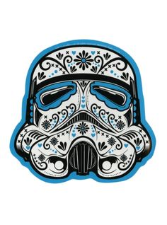 The stormtrooper mask is given a Day of the Dead makeover on this sticker.
