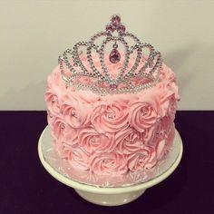 Pink princess cake with tiara from Sweet Treats by Lara More