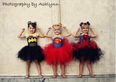 Kyley would live these!!  Superhero tutu dresses 40 dollars - custom order. Fit sizes 2-6. Sew Sly Designs on FB.