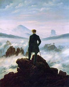 Wanderer above the Sea of Fog  Caspar David Friedrich Year	1818 Type	Oil-on-canvas Dimensions	98.4 cm × 74.8 cm (37.3 in × 29.4 in)