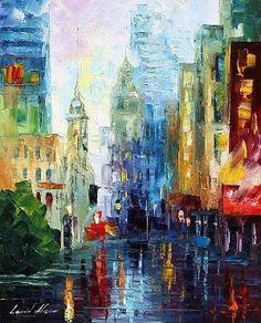 RAIN IN NEW YORK -  by Leonid Afremov by regina