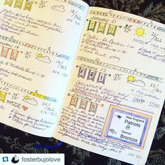 Olha que lindeza gente! Bujo é uma terapia!  #Repost @fosterbujolove with @repostapp. ・・・ Guess what I'm doing today??? Last matchup between #peyton and #tombrady. #denver weather is perfect. Hope it's a good #game ! #football #bulletjournal #bulletjournalcommunity #bujo #bulletjournalideas #dailyjournal