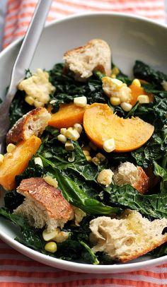 Weekend Glow Kale Salad with Tahini-Lemon dressing | health is wealth ...