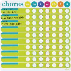 Lulalu Chore Chart List Pad