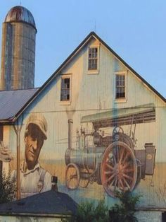 Barn Mural Country Streets