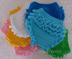 Ripples and Ruffles Diaper Cover PDF Crochet Pattern by Easy Creations.