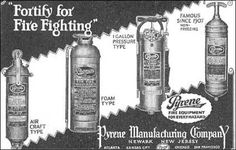Old Pyrene Fire Extinguisher Ad