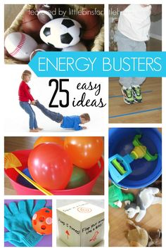25 Indoor Gross Motor Energy Busters for Kids: Great for rainy days with indoor recess!
