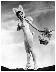 Debra Paget ~ Vintage Easter Postcard
