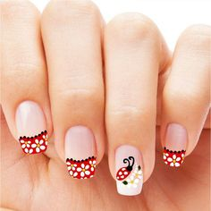 35 Incredible Red Nail Art Design for Summer Whatever style you select, you're bound to wind up with fabulous red nail designs.The trend of red nails 2019 might […] Red Nail Art, Cute Nail Art, Red Nails, Cute Nails, Pretty Nails, Hair And Nails, Black Nail, Red Black, Spring Nails