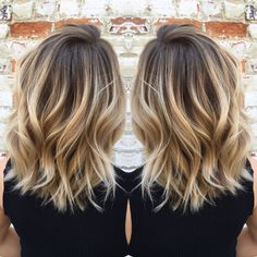 Flawless Balayage by Laura Ashley at Magnolia Jane! weeks in advance) For bookings:… Cabelo Ombre Hair, Baliage Hair, Mom Haircuts, Mom Hairstyles, Blonde Hair With Highlights, Brown Blonde Hair, Medium Hair Styles, Curly Hair Styles, Hair Color And Cut