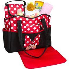 Disney(ディズニー) ミニーマウス 5-in-1 マザーズバッグ セット Disney - Minnie 5-in-1 Diaper Bag Set