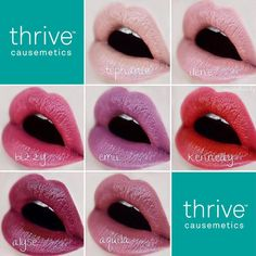 Swatches of our Headliner Lipstick by Thrive Cosmetics, Lip Primer, Carrot Seed Oil, Lipstick Tutorial, Ombre Lips, Lip Swatches, Lip Fillers, Crazy Colour, Makeup Goals
