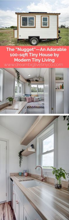 """The """"Nugget""""—An Adorable 100-sqft Tiny House by Modern Tiny Living #TinyCabins"""