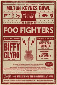 Foo Fighters at Milton Keynes Bowl 2-3 july 2011: I went to this. The Best show I've ever been to.