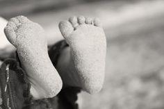 Sandy baby feet #baby #photography #feet #beach