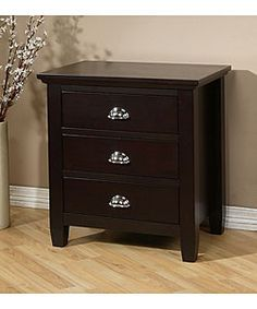@Overstock - Complete your bedroom decor with this Waynesborough 3-drawer nightstand  Nightstand features durable rubberwood construction  Stylish 3-drawer nightstand enhances any home decorhttp://www.overstock.com/Home-Garden/Waynesborough-3-drawer-Nightstand/2545515/product.html?CID=214117 $159.29