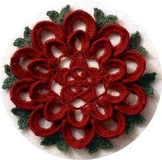 crochet. Christmas circle