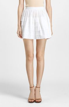 Michael Kors Tiered Cotton Organdy Miniskirt available at #Nordstrom