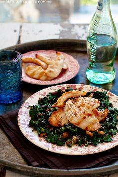 WEEK THREE: Grains and Greens / Grilled Chicken with #RainbowChard | Gluten Free, Paleo recipe | FamilyFreshCooking.com