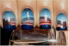 Sydney Harbor Bridge nail art
