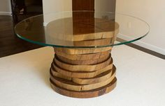Blue Gum Eucalyptus Round Dining Table - modern - dining tables - san diego - San Diego Urban Timber