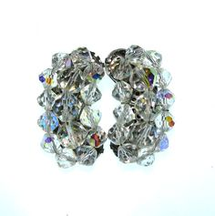 Vintage 50s Crystal Earrings / 1950s by BreesVintageRevivals, $16.00