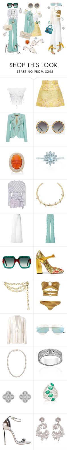 """""""£192,396"""" by fendilicious ❤ liked on Polyvore featuring Dolce&Gabbana, LUISA BECCARIA, Elie Saab, Chanel, Pamela Huizenga, Balenciaga, Fallon, Ann Demeulemeester, Gucci and Triya"""