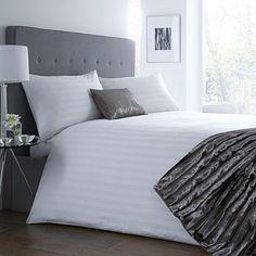 White sateen bedding set - Duvet covers & pillow cases - Bedding - Home & furniture -