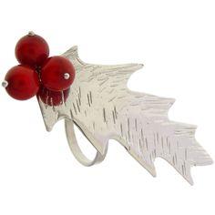 Emmanuela.gr - Handmade Jewelry - Rings :: Sterling Silver Mistletoe Ring
