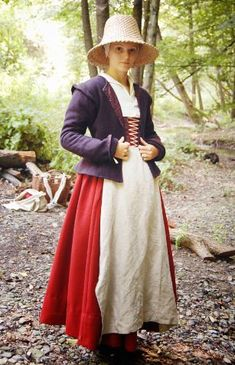 Tailor's - Baska, Woman's dress, part 16th Century Clothing, 17th Century Fashion, Renaissance Costume, Renaissance Fashion, Historical Costume, Historical Clothing, Elizabethan Clothing, Peasant Clothing, Tudor Fashion