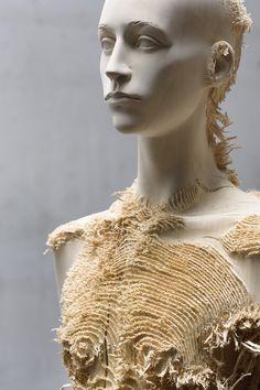 New Distressed Wood Figures by Aron Demetz wood sculpture