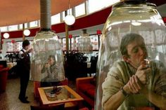 Yes, but smoking areas should be secluded, in case a non-smoker is accidentally exposed to second-hand smoke. Strange Japanese Inventions. Funny Inventions, Awesome Inventions, Awesome Gadgets, Japanese Inventions, Bizarre, Yokohama, Akita, At Least, Funny Pictures