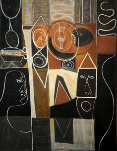 Adolph Gottlieb ~ Alkahest of Paracelsus, 1945 (oil and tempera on canvas)