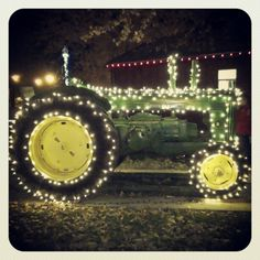 Haha love! have had to string up Christmas lights on a tractor before...it's confusing lol