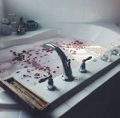 I need this tub in my next place. Entspannendes Bad, Interior Exterior, Interior Design, Chill Pill, Table Design, Lush Bath, Relaxing Bath, Just Relax, Bath Time