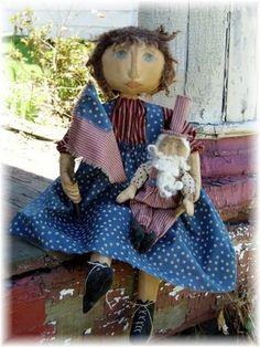 Uncle Sam primitive doll