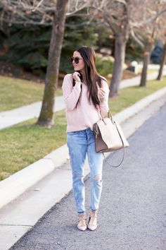 Sweater: Gap Maternity (non maternity similar pink sweater here)