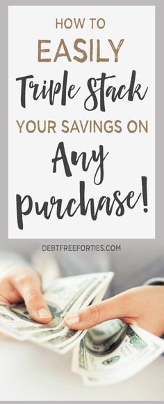 How to Triple Stack your Savings on ANY Purchase! Tips on how to combine sales, coupons, rebate apps and discounted gift cards to earn the most savings! #savings #holidaysavings #shopping