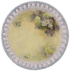 """""""Such fine china"""" ~ free round graphic, sweet violets"""