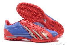 Messi Boots 2013 Light Coral Blue Gray Adidas Adizero F50 TRX TF For Sale