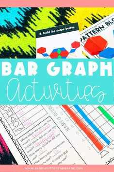 Looking for engaging activities for learning about graphs and data in first or 2nd grade? Click the pin to check out this resource, complete with worksheets, anchor charts, and graphing games!