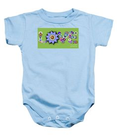 Purchase a baby onesie featuring the image of Love Flowers by Kimberly Hansen.  Available in sizes S - XL.  Each onesie is printed on-demand, ships within 1 - 2 business days, and comes with a 30-day money-back guarantee.