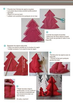 Tutoriel DIY Frou-Frou : sapin de Noël en tissu. Fiche couture 2