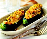 """Stuffed Zucchini Recipe. This is one of the best zucchini recipes I've ever made.  If you don't have good zucchini """"shells"""" then you can bake the """"stuffing"""" in a small casserole dish.  Yummy!"""