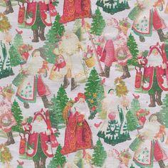 Vintage Christmas Wrapping Paper, Christmas Gift Wrapping, Christmas Decor, Merry Christmas, Wrapping Paper Design, Gift Wrapping Paper, Foil Paper, Gift Table, Santa Gifts