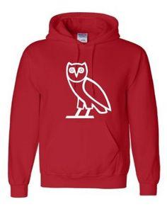 sofiesof's save of Amazon.com: Adult Owl Ovo Ovoxo Drake October's Very Own Novelty Hooded Sweatshirt Hoodie: Clothing on Wanelo