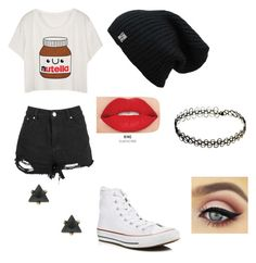 """""""So very bored"""" by nataliethatfangirl on Polyvore featuring Converse and Smashbox"""
