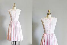 1950s Pink Dress (LARGE) at Strawberry Koi