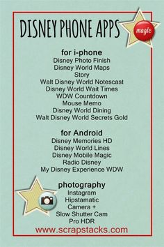 Indispensable Tips For Your Disney World Honeymoon A Magical Scrap Stacks Summer: Disney mobile apps and photography tips